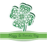 St. Patrick's Day.  Green clover  background Stock Photo