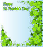 St. Patrick's Day green clover light background Stock Photo