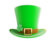 St. Patrick's day green hat. On a white background Stock Photography