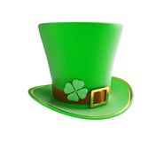 St. Patrick's day green hat. On a white background Stock Image