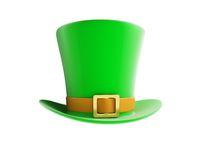 St. Patrick's day green hat. On a white background Royalty Free Stock Image