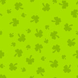 St Patrick's Day green soft seamless pattern Royalty Free Stock Image