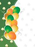 St. patrick's day greeting with balloons 17 march Stock Photography