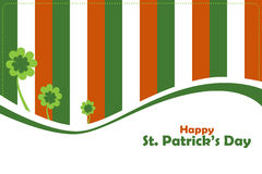 St Patrick's day greeting card. Illustration of a St. Patrick's day background useful as greeting card.EPS file available Stock Photo