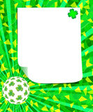 St Patrick's Day greeting card with copy space Royalty Free Stock Photography