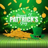 St.Patrick`s Day Greeting Card Stock Image