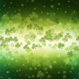 St. Patrick's Day greeting card  on green background Royalty Free Stock Photos
