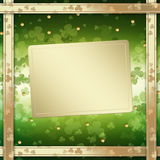 St. Patrick's Day greeting card  on green background Royalty Free Stock Photography
