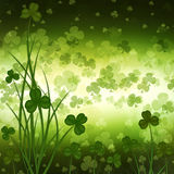 St. Patrick's Day greeting card  on green background Royalty Free Stock Images