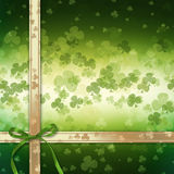 St. Patrick's Day greeting card  on green background Stock Photography