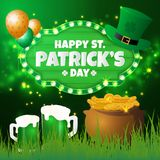 St.Patrick`s Day Greeting Card Royalty Free Stock Photos
