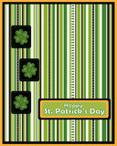 St Patrick's day greeting card - vector stock image