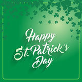 St. Patrick's Day greeting card. Royalty Free Stock Images