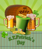 St. Patrick's Day -  greeting card Royalty Free Stock Images