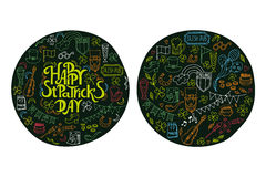 St.Patrick `s Day. Greeting and invitation cards. Royalty Free Stock Photo