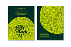 St.Patrick `s Day. Greeting and invitation cards. Stock Photo
