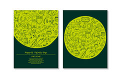St.Patrick `s Day. Greeting and invitation cards. Royalty Free Stock Photos
