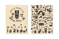 St.Patrick `s Day. Greeting and invitation cards. Royalty Free Stock Image