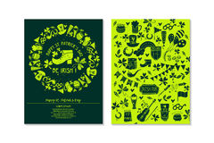 St.Patrick `s Day. Greeting and invitation cards. Stock Images