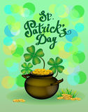 St. Patrick s Day greeting. Vector illustration. Royalty Free Stock Photos