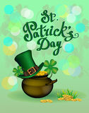 St. Patrick s Day greeting. Vector illustration. Stock Photography