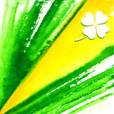 St. Patrick's Day Hand Made Watercolor Background or Card. Stock Images