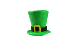 St. Patrick's Day Hat. Isolated on white Royalty Free Stock Photo