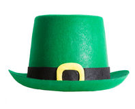 St Patrick's Day Hat. Isolated on white background Stock Photos