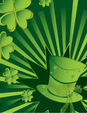 St Patrick's Day hat background. St Patrick's Day hat with active ray background Stock Photography