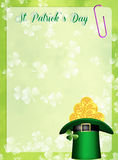 St.Patrick's Day hat Stock Photography