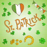 St. Patrick s Day holiday greeting card Stock Photography