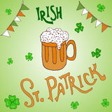 St. Patrick s Day holiday greeting card Royalty Free Stock Images