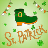 St. Patrick s Day holiday greeting card Stock Photo