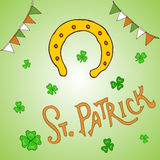 St. Patrick s Day holiday greeting card Stock Images