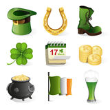 St. Patrick's Day holiday icons Stock Photo