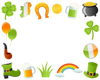 St. Patrick`s Day Horizontal Photo Frame Royalty Free Stock Photography