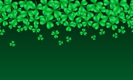 St. Patrick`s day horizontal seamless background stock images