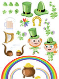 St. Patrick's Day icon set Royalty Free Stock Photography