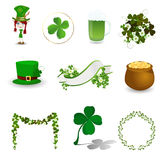 St. Patrick's Day icon set Stock Photography