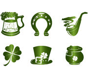 St. Patrick S Day Icons Stock Image