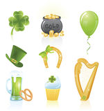 St. Patrick's Day icons. Royalty Free Stock Images