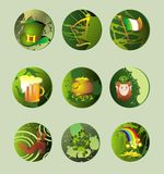 St. Patrick's Day icons    Royalty Free Stock Photos