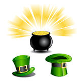 St Patrick's Day Icons Stock Images