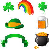 St. Patrick's day icons Royalty Free Stock Images