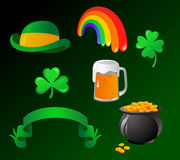 St. Patrick's day icons Stock Images