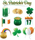 St. Patrick's Day icons and designs. 10 different icons and designs for St. Patrick's day Royalty Free Illustration