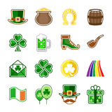 St. Patrick`s day. Icons set stock illustration