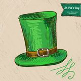 St. Patrick's Day illustration of hat Stock Photography