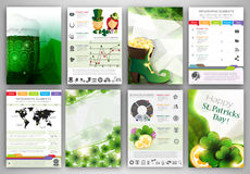 St. Patrick's Day Infographic backgrounds Stock Photography