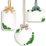 St. patrick's day labels Royalty Free Stock Photos